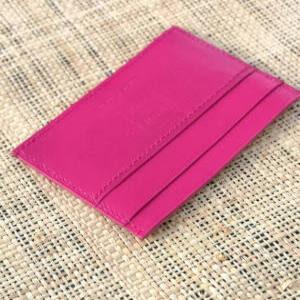 Porte-cartes rose fuschia