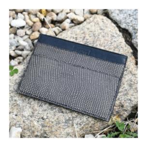 porte-cartes cuir noir et gris imprimé