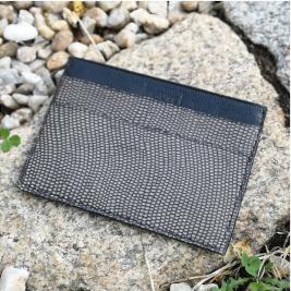 Porte cartes cuir noir et gris de chez Mauve et Fauve